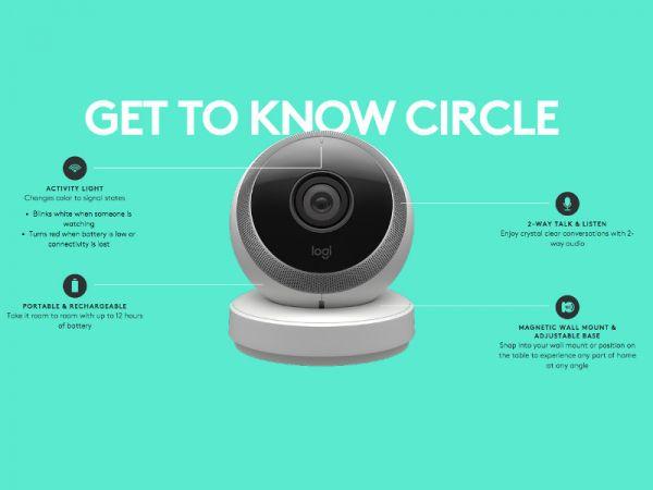 Les principales fonctions de la Logi Circle