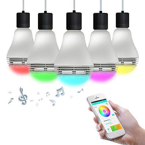 Ta lampe mipow playbulb color te permet d'écouter de la musique et de varier des couleurs à distance