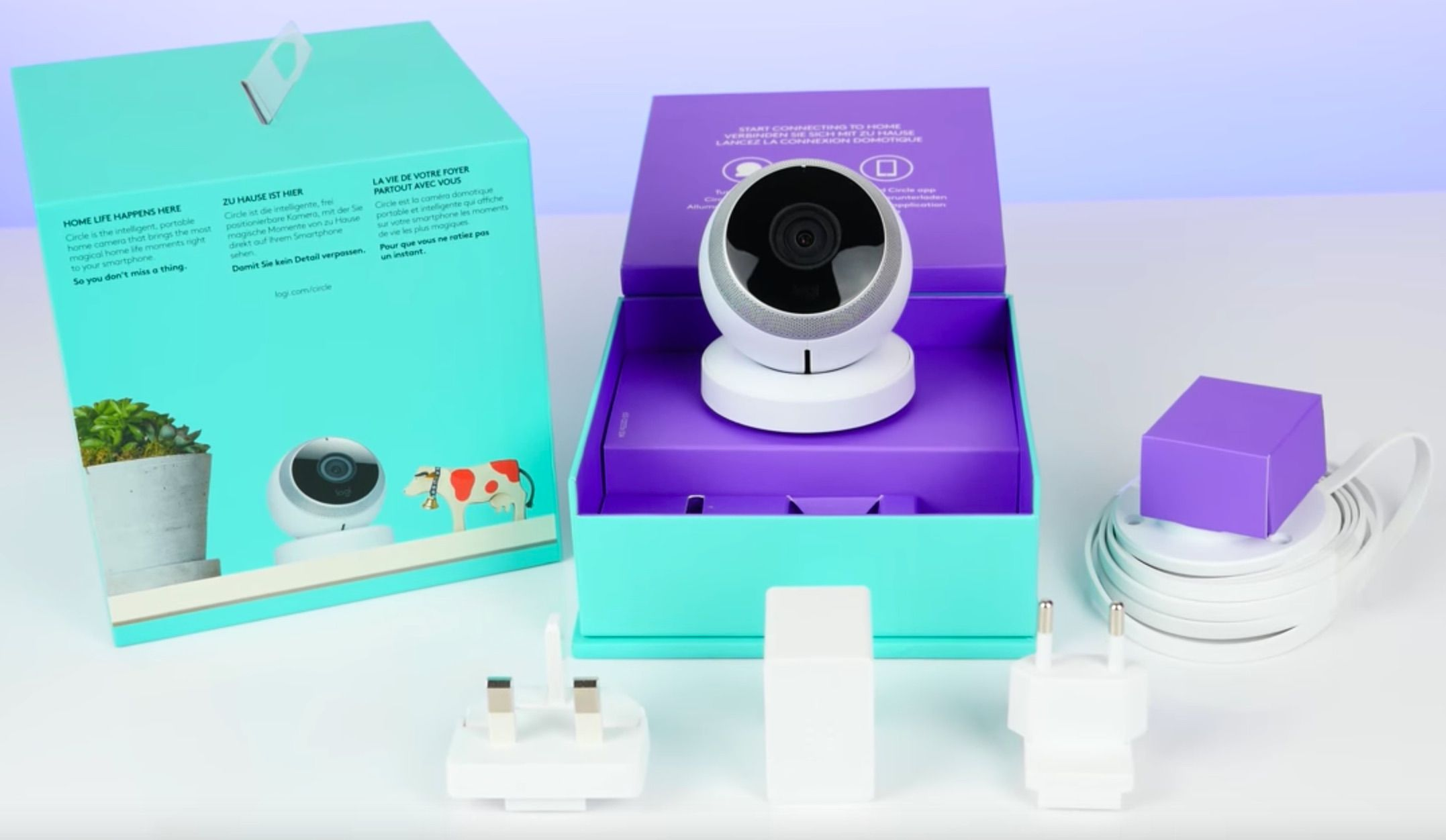 SmartHome Camera Logi Circle - contenu de la boite