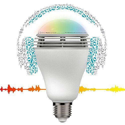 Joues et profite de la musique diffusée par la mipow playbulb color, et transforme ta pièce en une discothèque