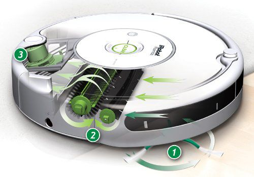 Robot aspirateur Roomba avec brosse rotative et batterie