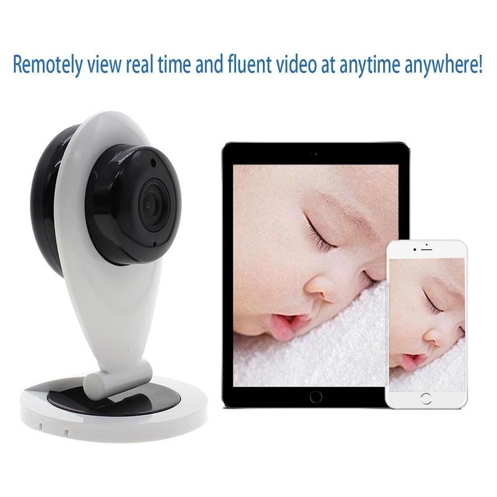 Caméra connectée avec détecteur de fumée d'incendie MMRM HB01 Réseau WiFi 720P HD : capture d'image et détection de risques d'incendie.