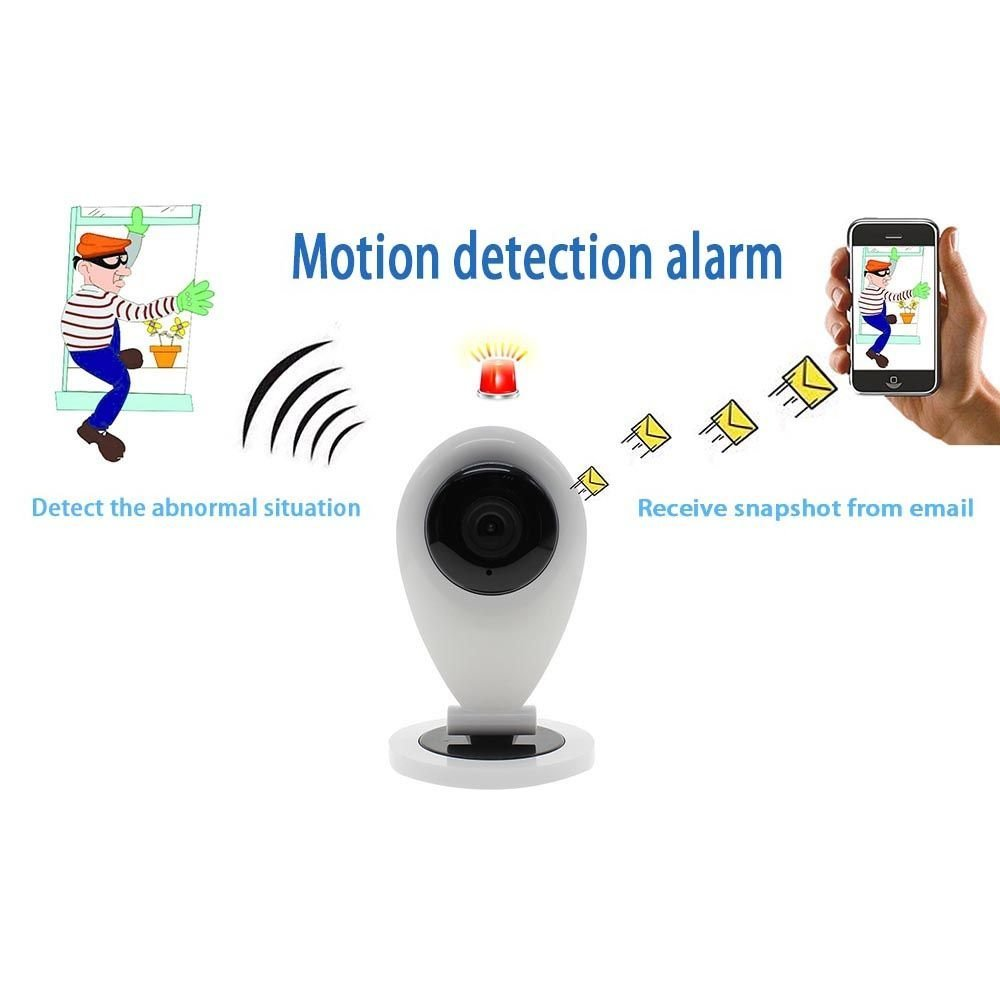 Caméra connectée avec détecteur de fumée d'incendie MMRM HB01, sécurisez la maison en gardant un œil sur elle à distance.