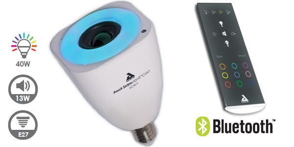 Caractéristiques ampule musicale Bluetooth Awox StriimLIGHT Color