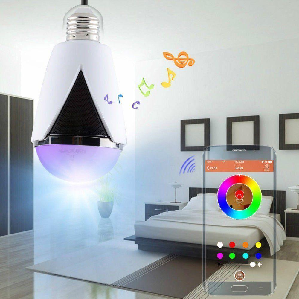 lampe avec haut-parleur Bluetooth blanche