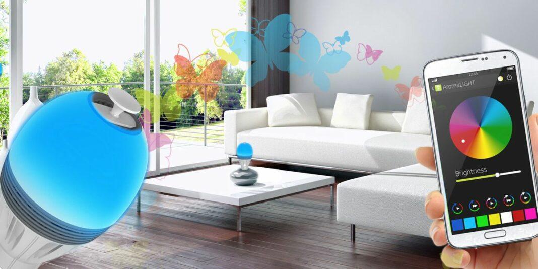 maisonconnectee-ampoule-connectee-Awox-Aromalight-Color