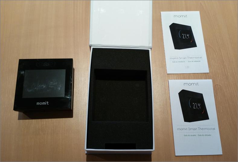 Packaging du thermostat connecté Smart Momit