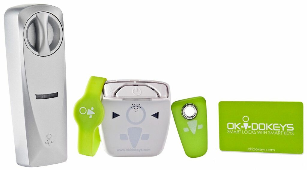 Serrure connectée Okidokeys Pack Access : bracelet, carte RFID, carte badge