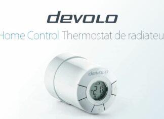thermostat de radiateur devolo home control sans fils