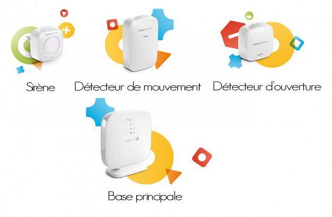 Les composants du pack sécurité maison connectée GIGASET