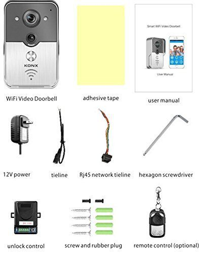 Les accessoires de la sonnette connectée avec caméra intégrée B&W