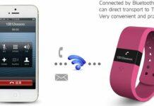 Le bracelet connecté DigiCare s'appaire avec votre smartphone