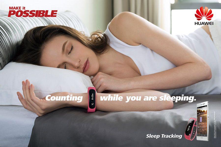 Le bracelet connecté Huawei Talkband B1 surveille votre sommeil