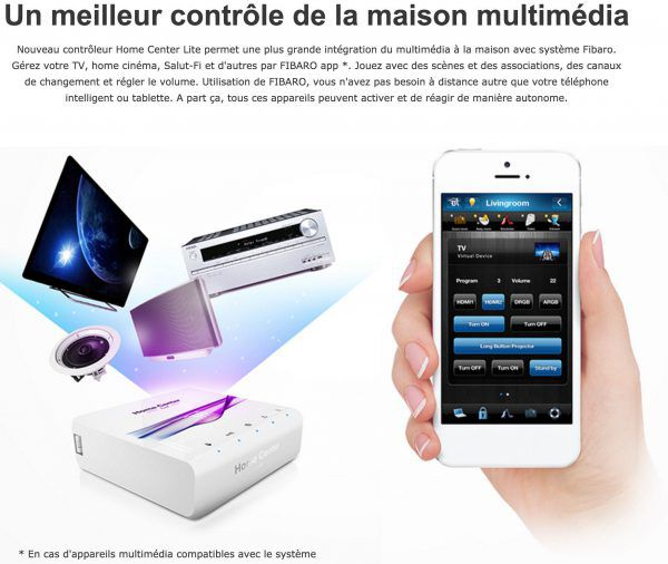 FIBARO Home Center Z-Light Wave box domotique connectee