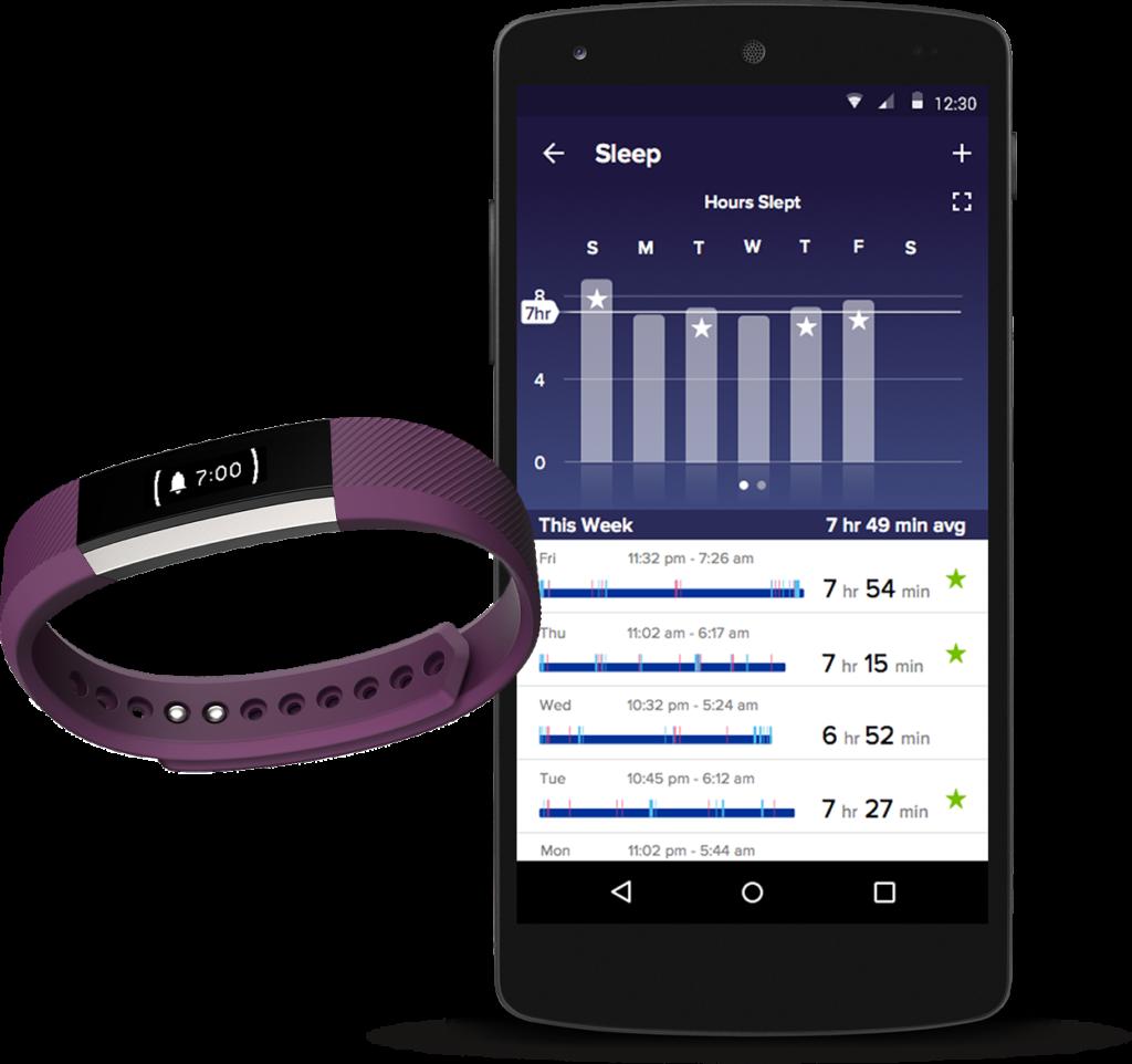 L'application mobile nous permettra de consulter les différentes statistiques de nos activités enregistrées par le bracelet connecté Alta