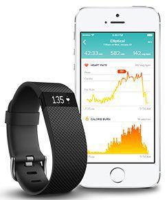 Bracelet connecte Fitbit Charge HR suivi continu de votre fréquence cardiaque, doté d'un capteur d'activité