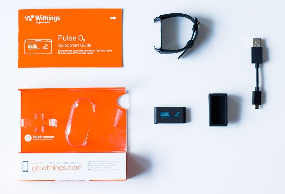 Contenu du packaging du bracelet connecté Withings Pulse Ox