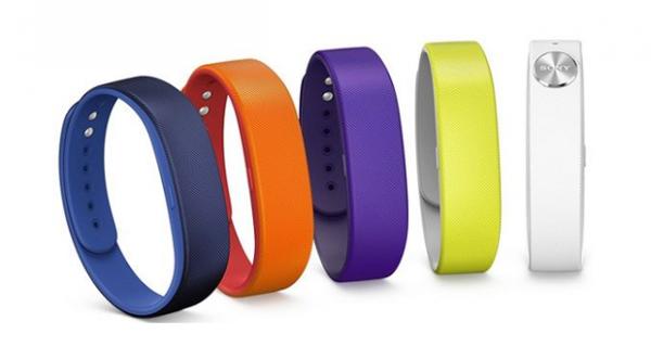 Les différents coloris du bracelet Sony SWR10