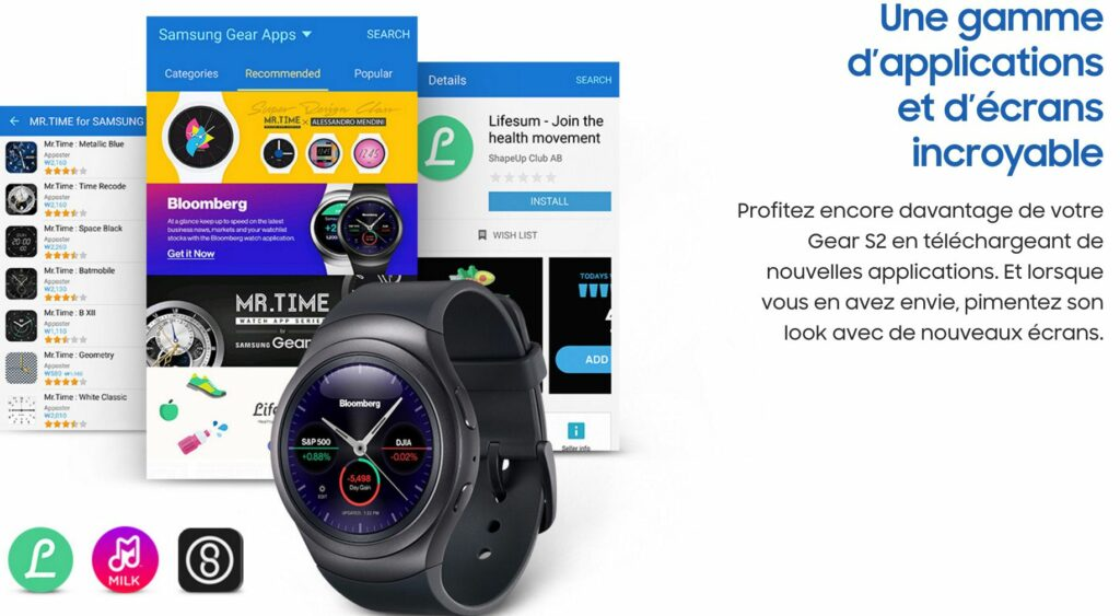 liste des applications pour la gear s2