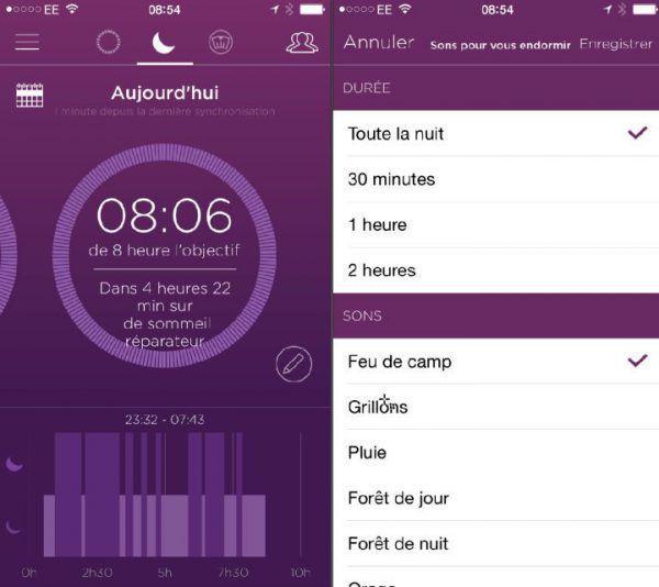 bracelet connecté capteur de sommeil: l'application analyse ta nuit de sommeil