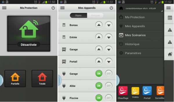 Application Myfox Home Control 2 pour Myfox Evology