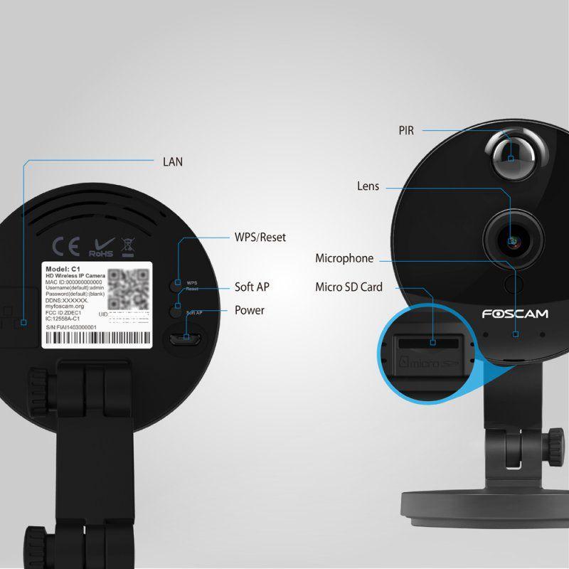 La caméra IP connectée de surveillance intérieure Foscam C1