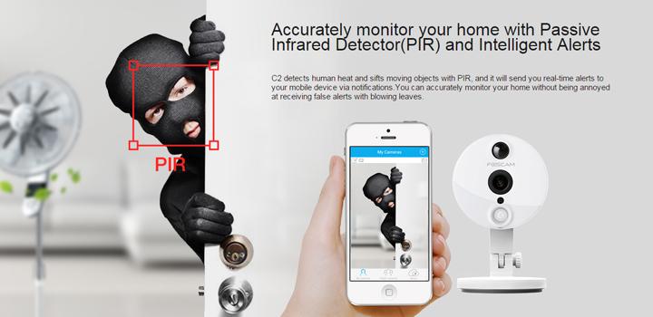 Foscam C2 : Caméra connectée IP de surveillance intérieure