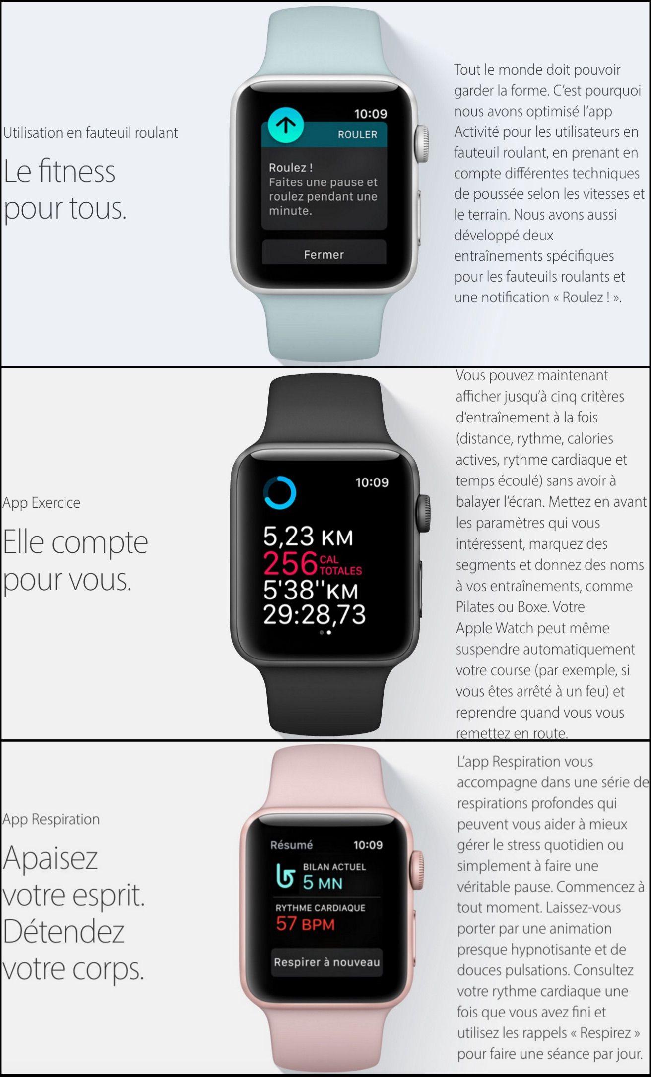 Apple Watch OS 3 montre connectee-maison connectee