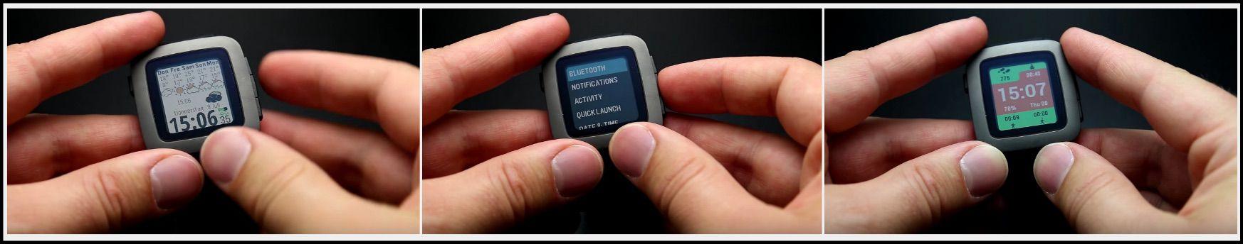 montre pebble time-ecran couleur-suivi d activite