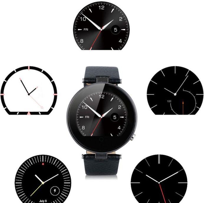 Différents affichages de la Smartwatch ZGPAX S365