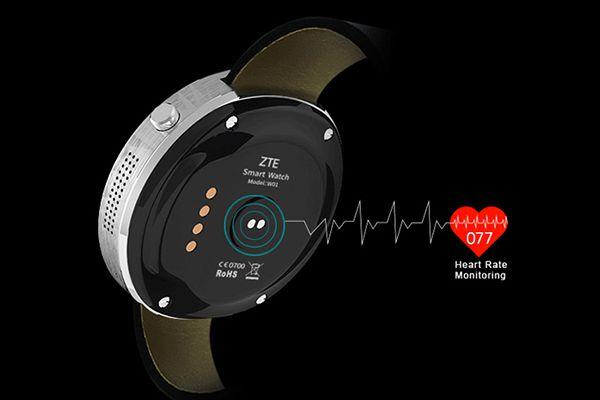 La ZTE W01 smartwatch dispose d'un capteur de fréquences cardiaques