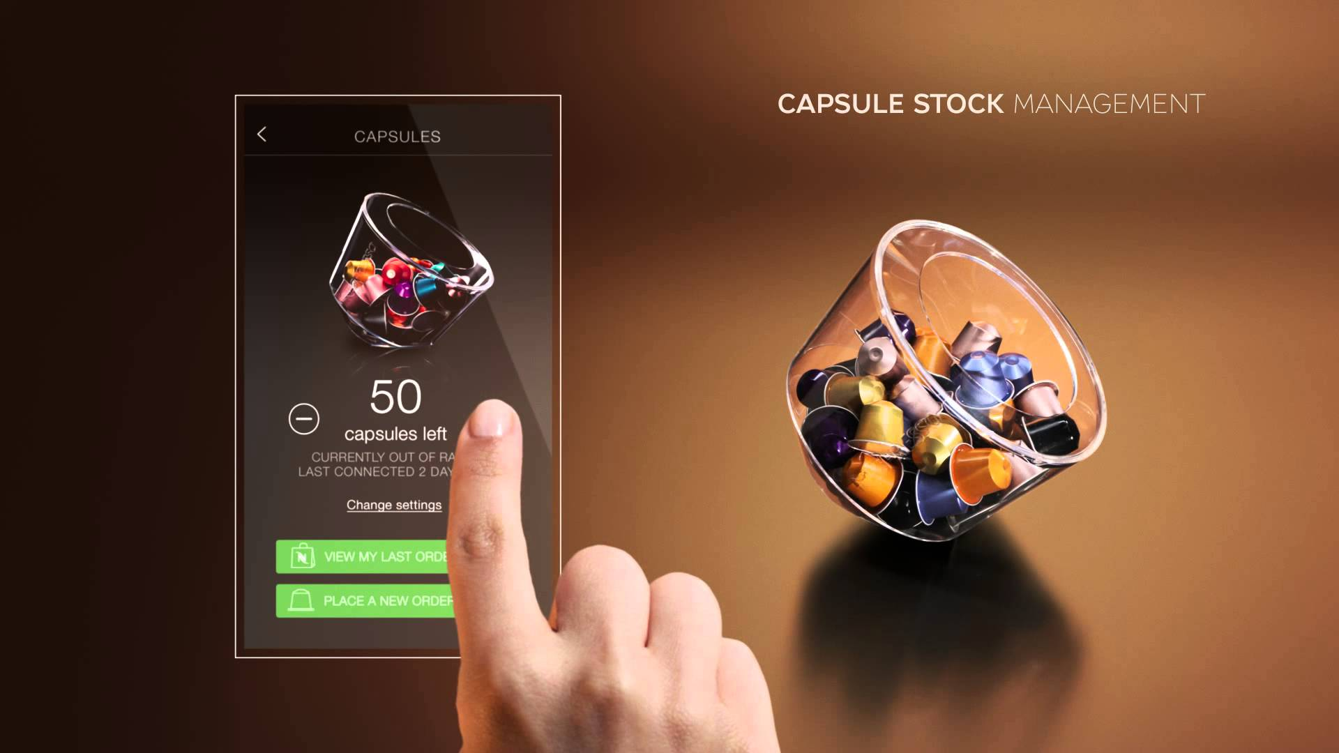 Gestion du stock de capsules via l'application mobile