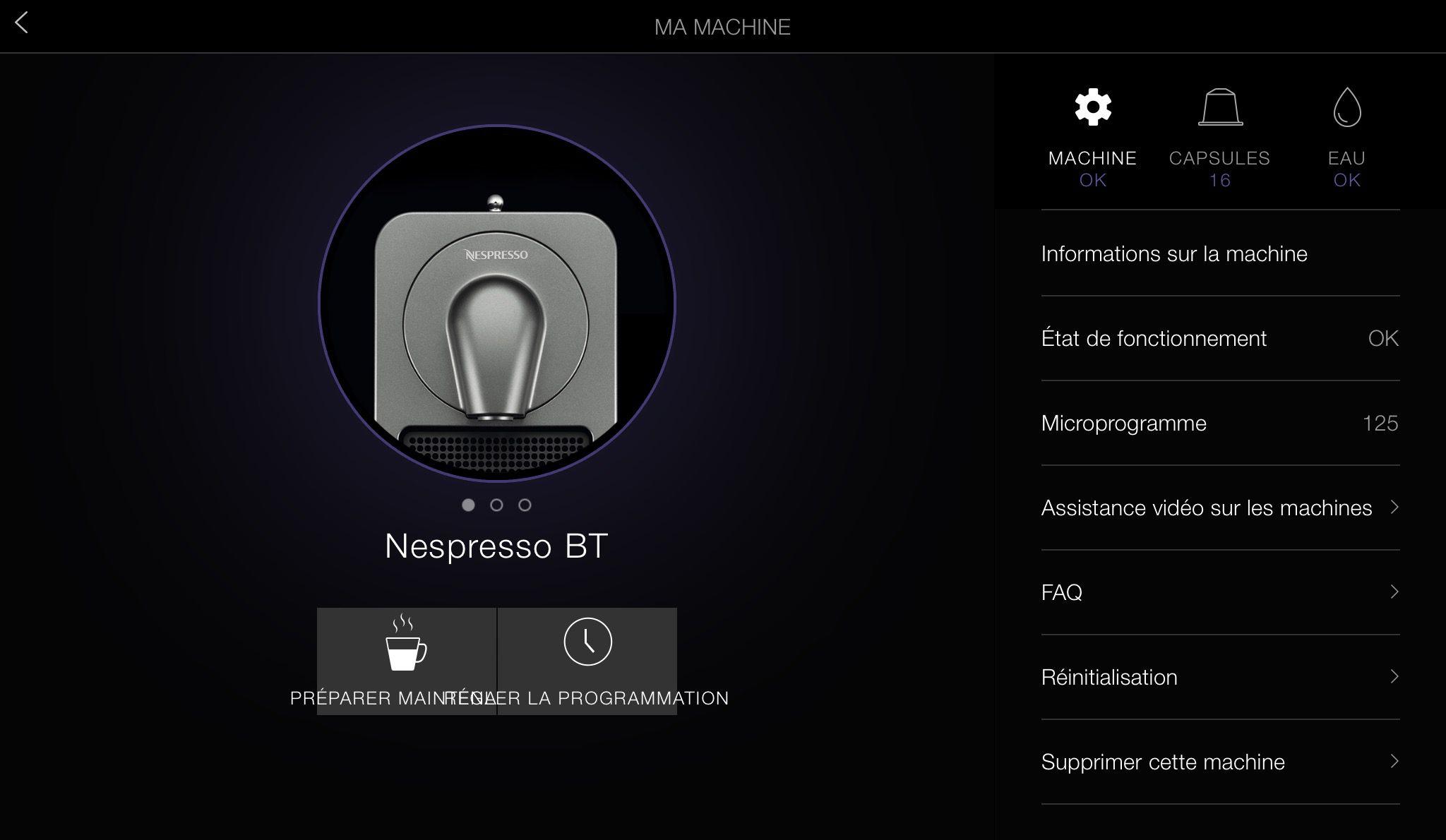 Ergonomie de l'application mobile Nespresso