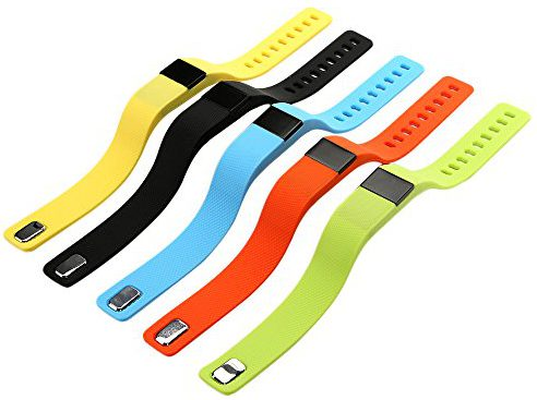 Le bracelet connecté OSAN Sport est disponible en plusieurs couleurs.
