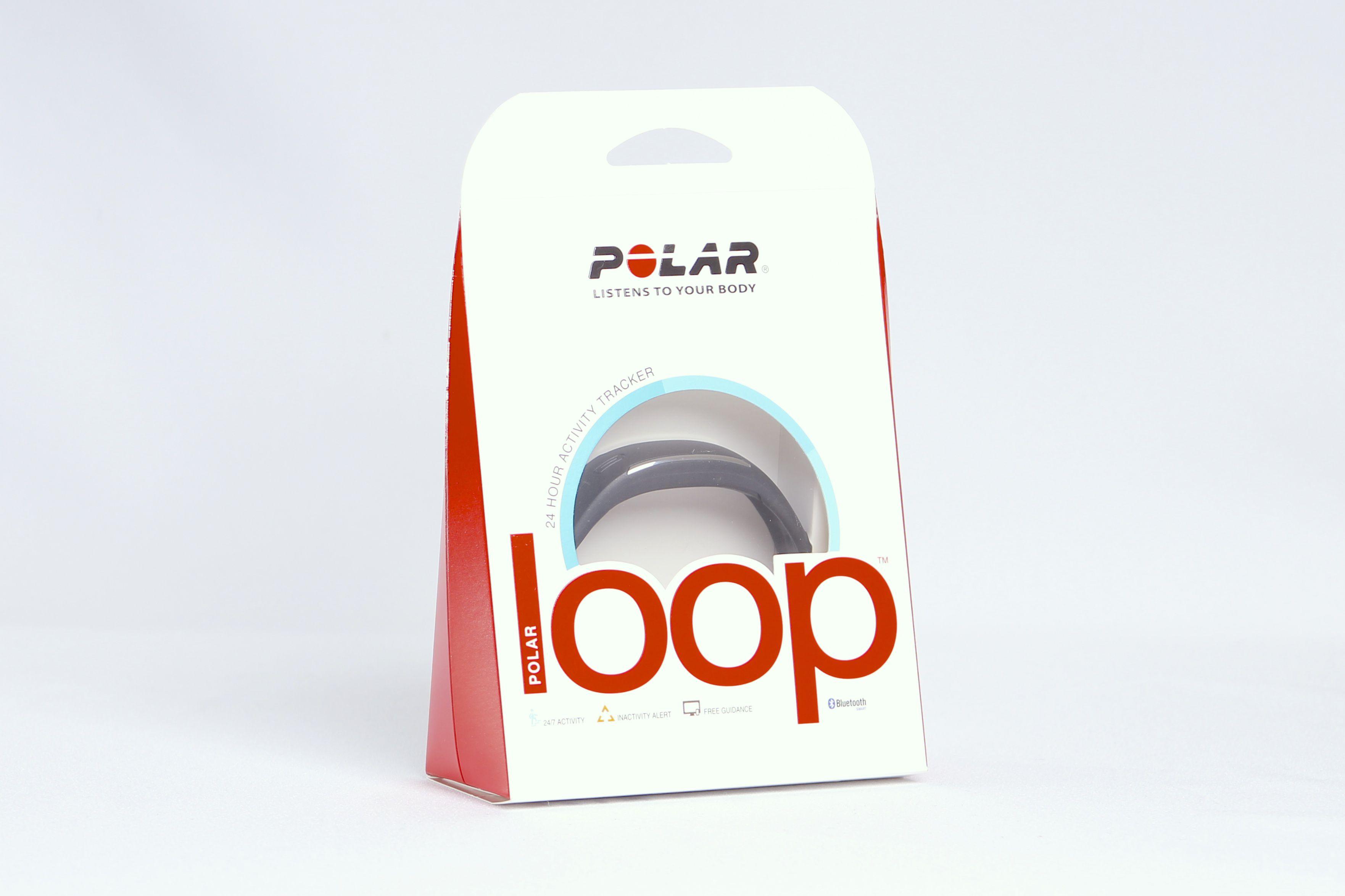 Le bracelet connecté Polar Loop dans son emballage