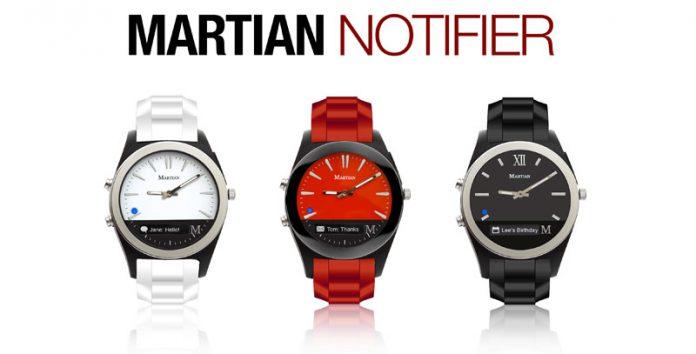 montre connectée Martian Notifier