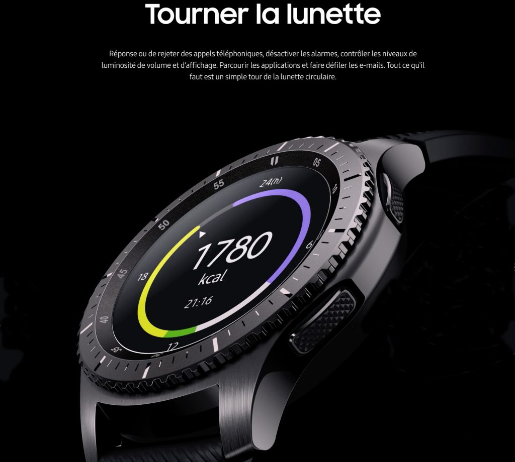 Montre Samsung Gear S3-smartwatch- montre cardio-montre sport