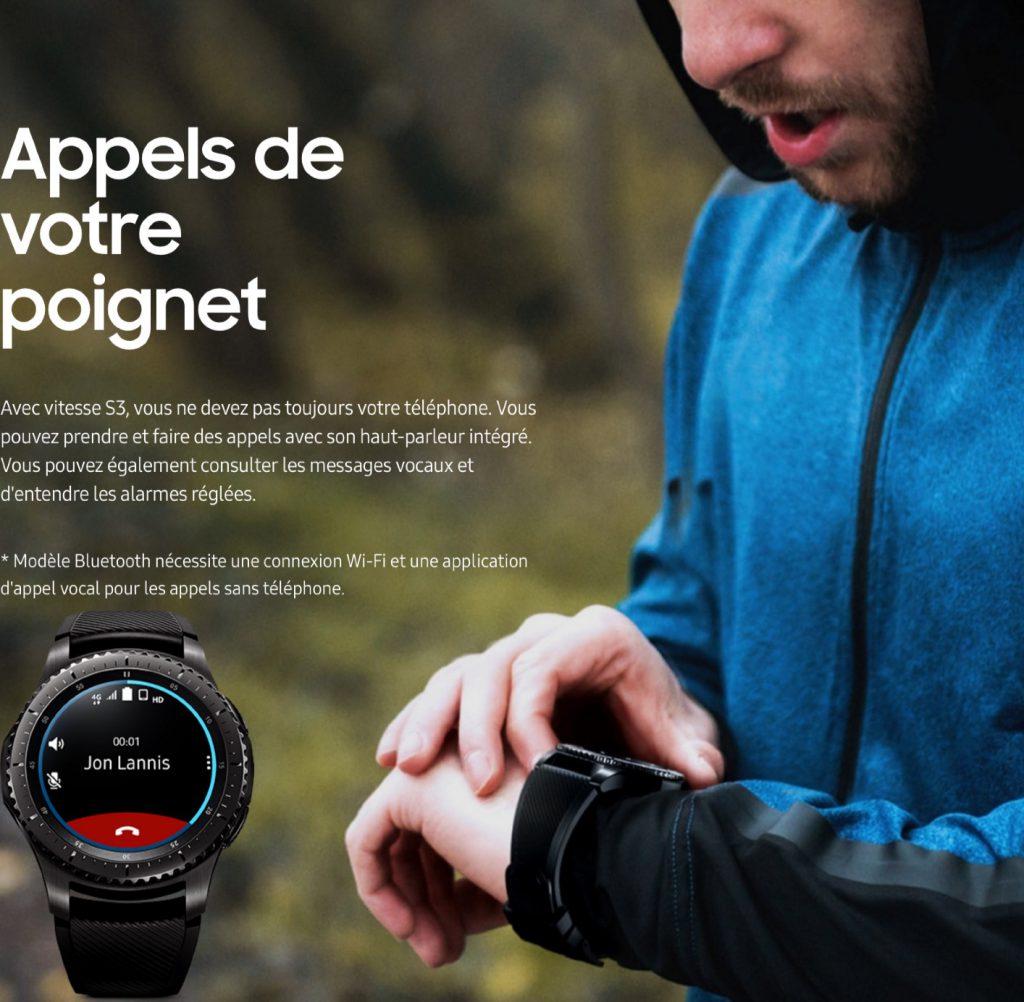 smartwatch Samsung Gear S3 la montre telephone