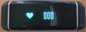 affichage du niveau de pulsation cardique sur le bracelet connecté zeband