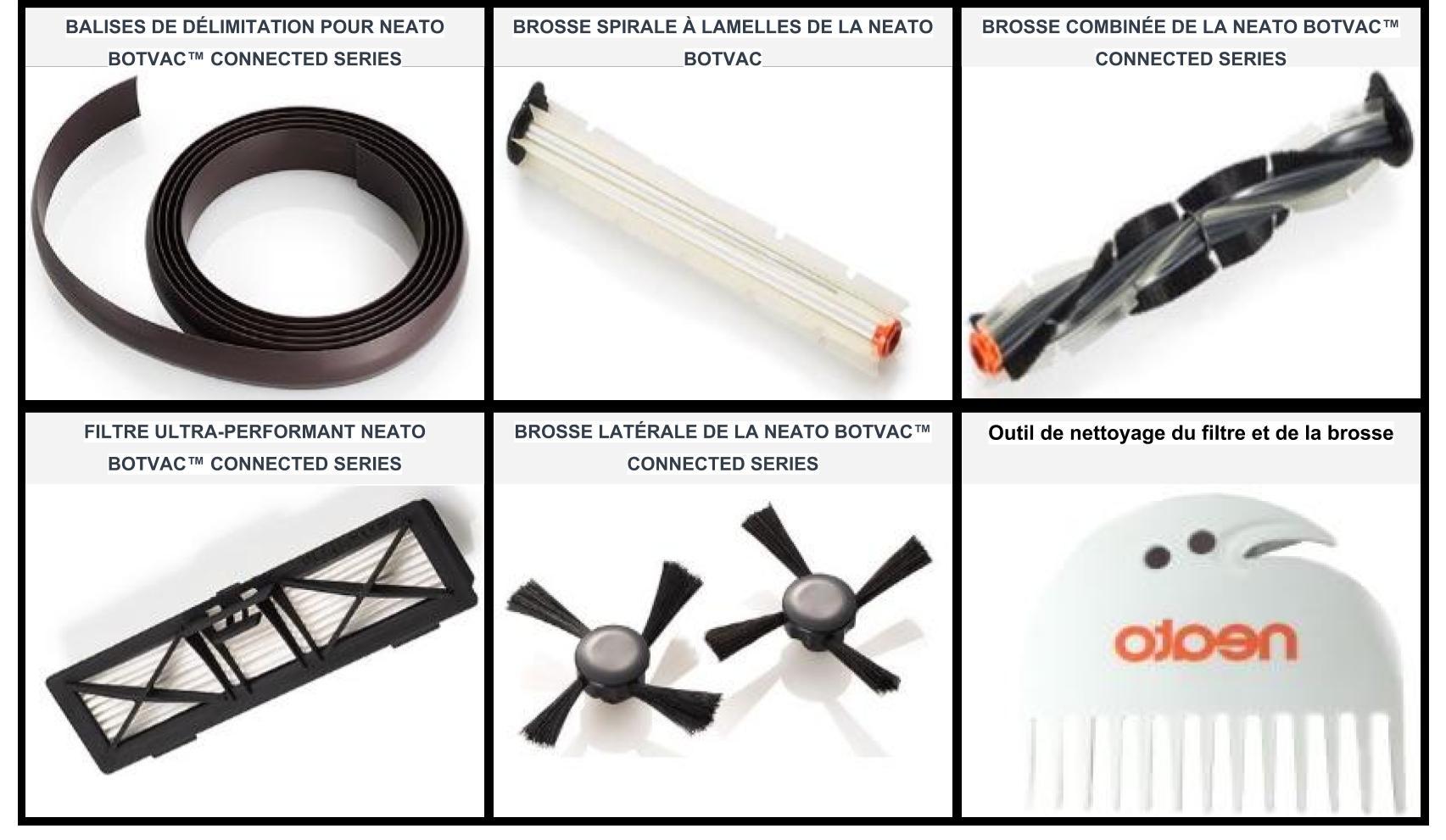 Accessoires du robot aspirateur Neato Robotics 945-0181 Botvac connected