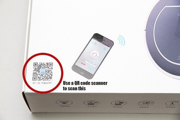 Code QR pour l'application du Chuwi ILIFE V7