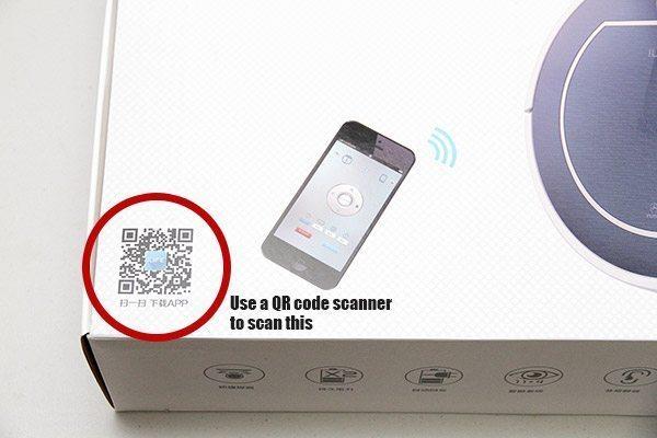 Code QR pour l'application du Chuwi ILIFE V7