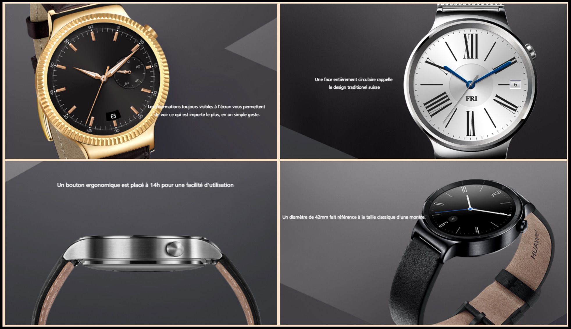 montre connectée HUAWEI Watch montre chinoise