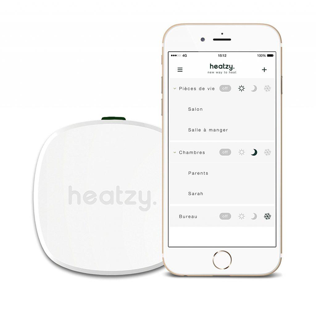 Utilisation du boîtier Heatzy via l'application mobile