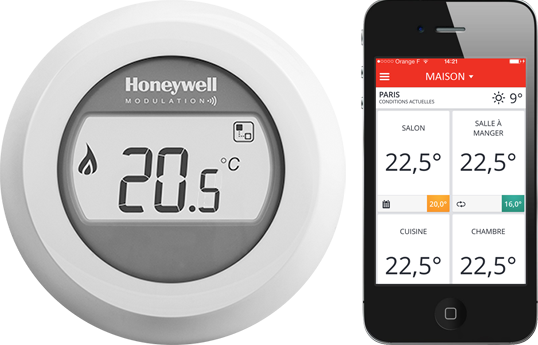 Gestion à distance du thermostat Honeywell Y87RF