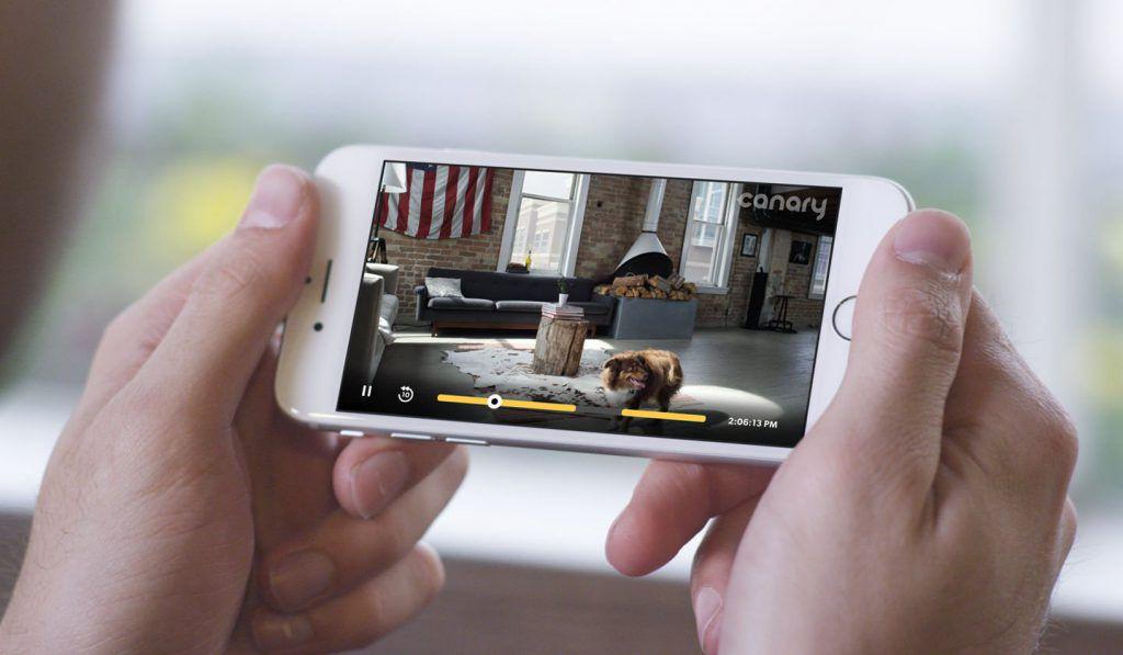 Lecture de la vidéo de surveillance depuis le smartphone