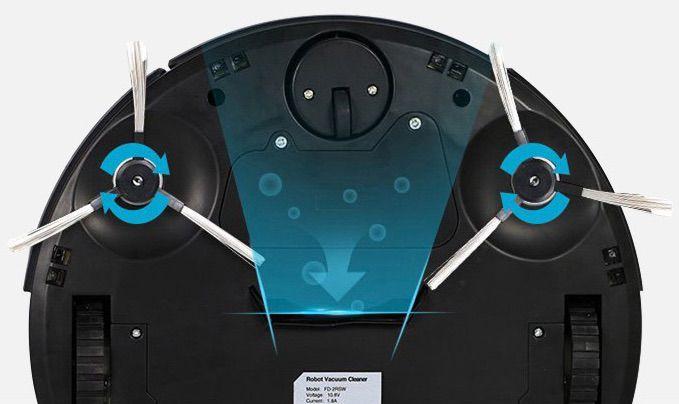 EVERTOP / Polaroid FD-2RSW (B) intelligente robot de nettoyage automatique de menage intelligent ultra plat blanc