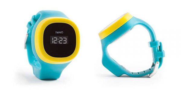 Vue de face et de côté de la montre GPS pour enfant hereO