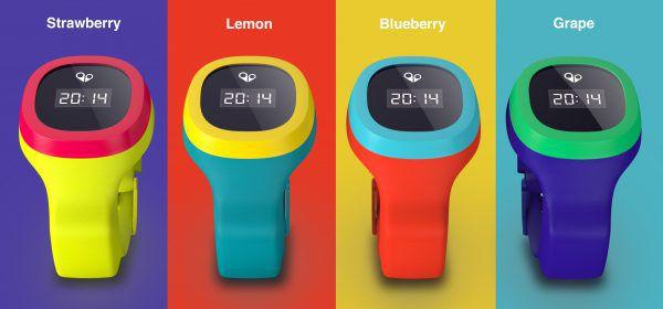 Quelques coloris de la montre GPS pour enfant