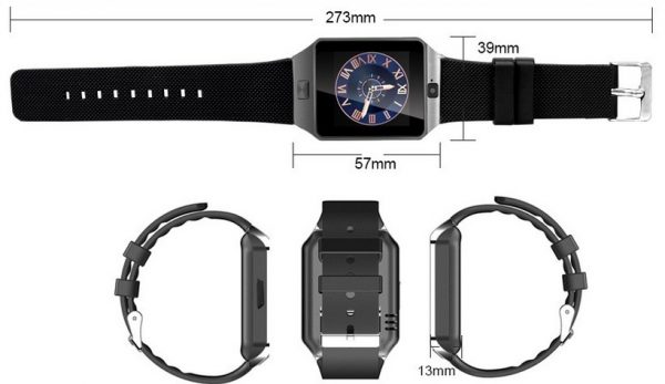 Dimensions de la Padgene Smart Watch